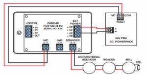 (ZSCC) Zeta Addressable Sounder Control Unit, zeta fire alarm